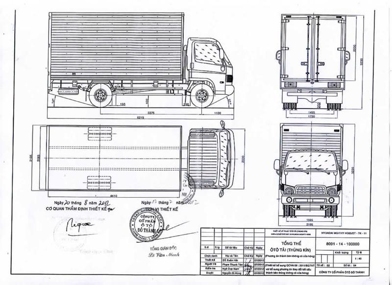 Mẫu xe taxi tải 1,7 tấn tại công ty Thành Tâm