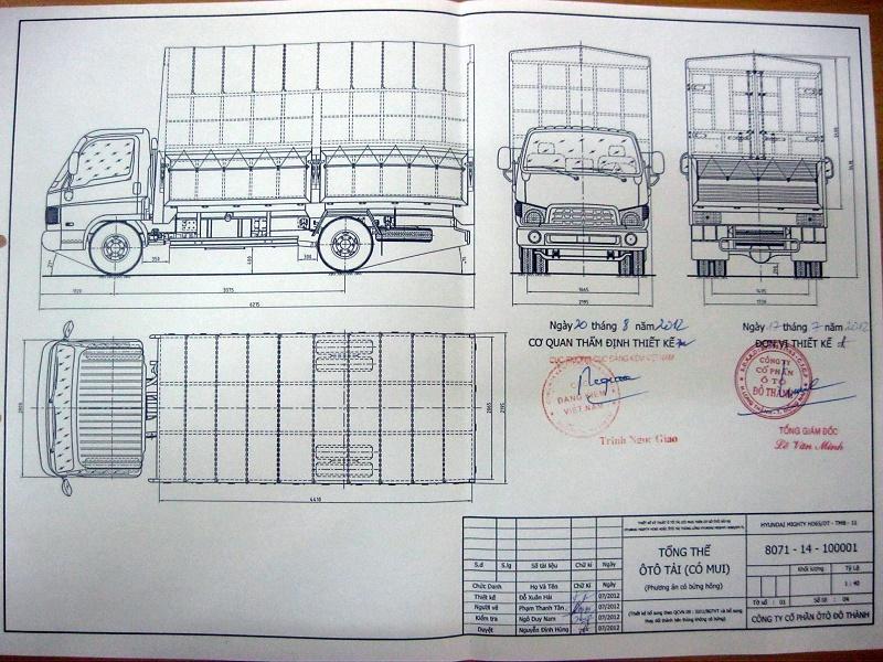 Mẫu xe taxi tải 1,8 tấn tại công ty Thành Tâm
